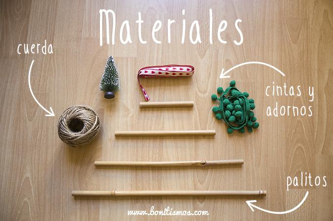 diy arbol materiales