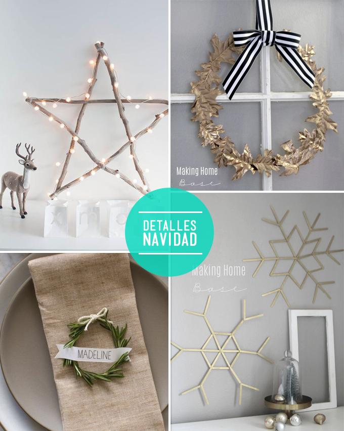 Diy Decoracion Navidad ~ Diy vistos en estrella de palos  corona Navidad puerta  detalle