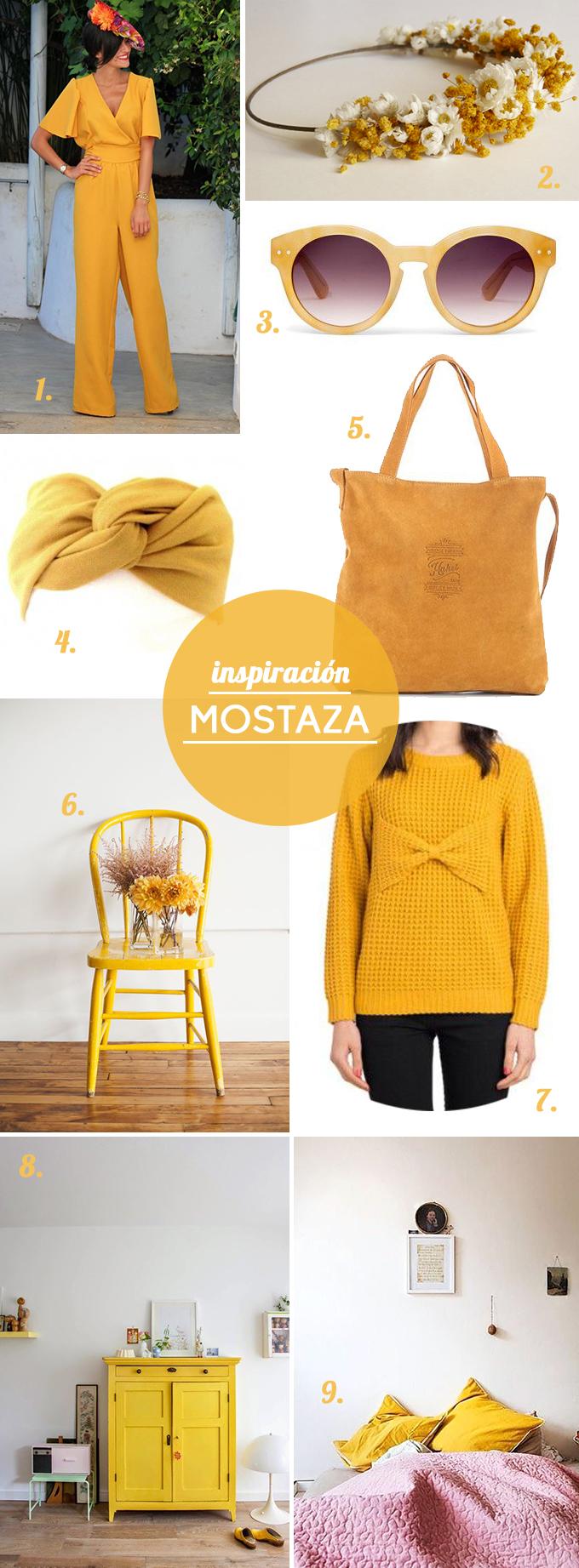 inpiración color mostaza