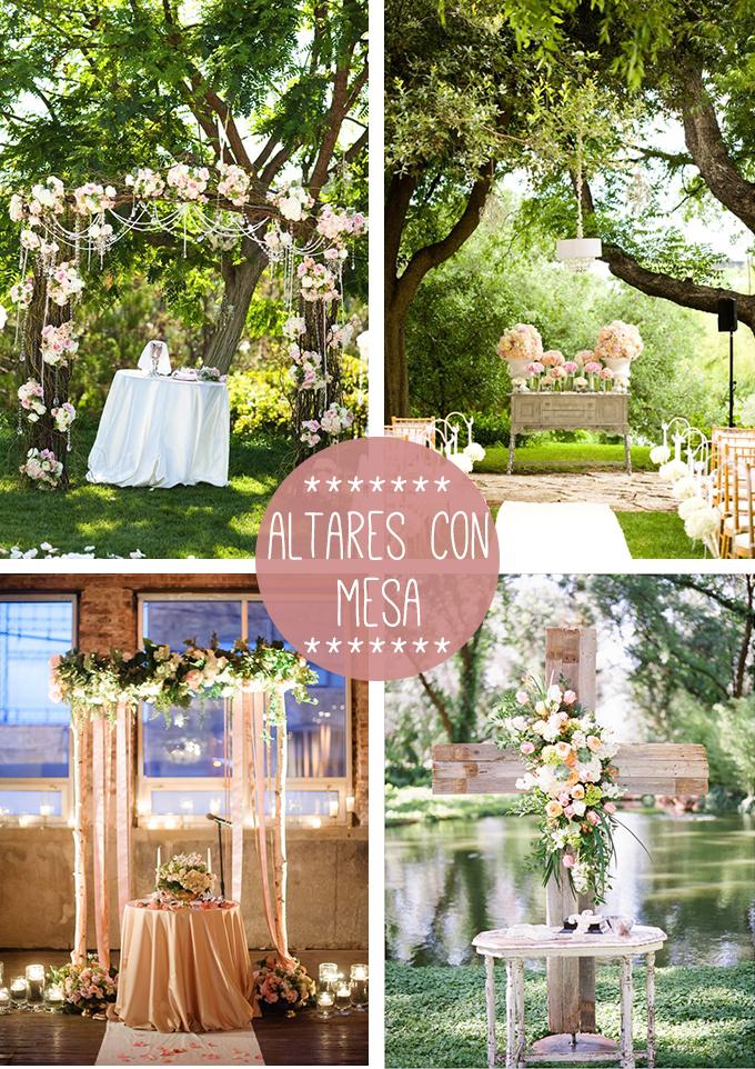 altar mesa boda