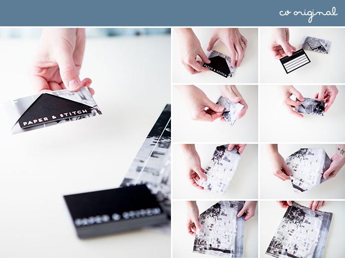 cv original con tarjeta de visita