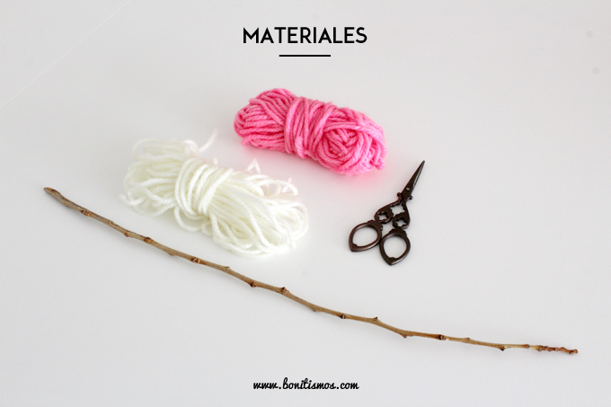 materiales diy tapiz sencillo