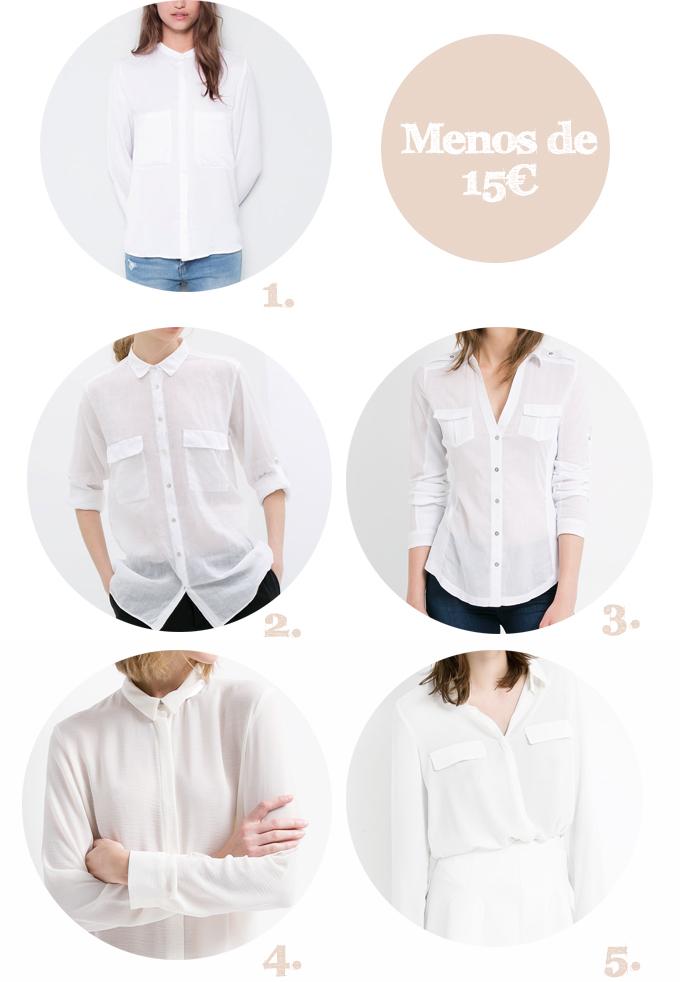 camisa blanca lowcost