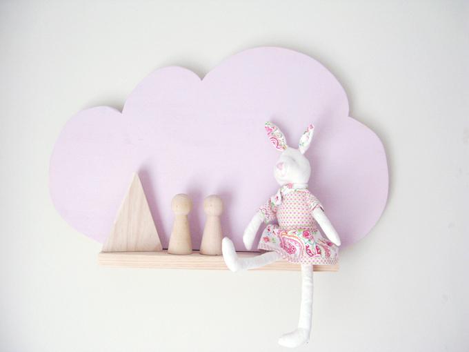 estanteria nube rosa