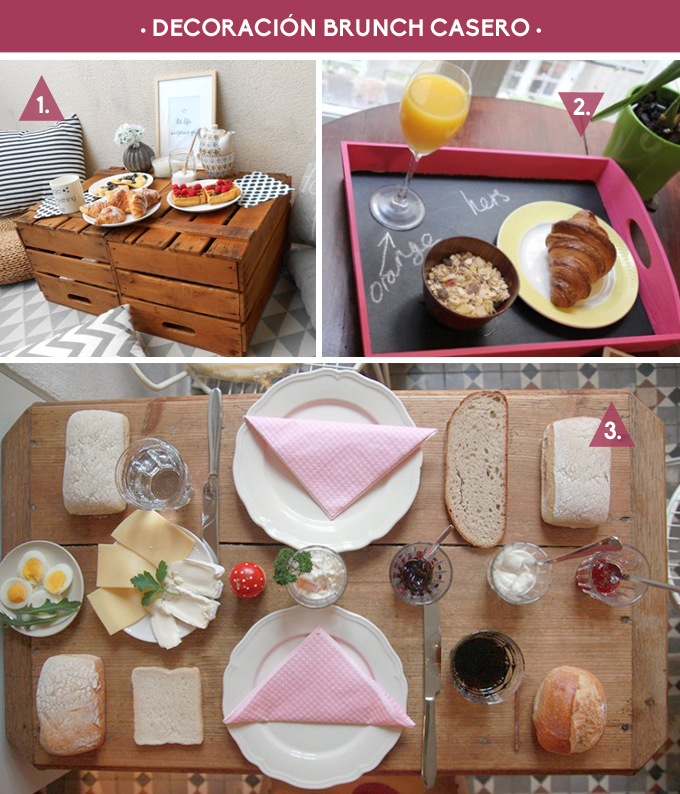 decoracion brunch casero