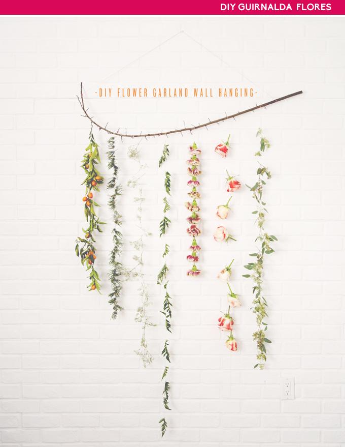diy guirnalda de flores