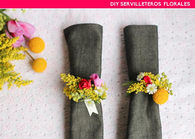 diy servilleteros florales