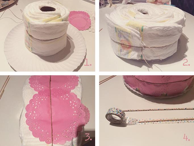 diy tarta pañales 2