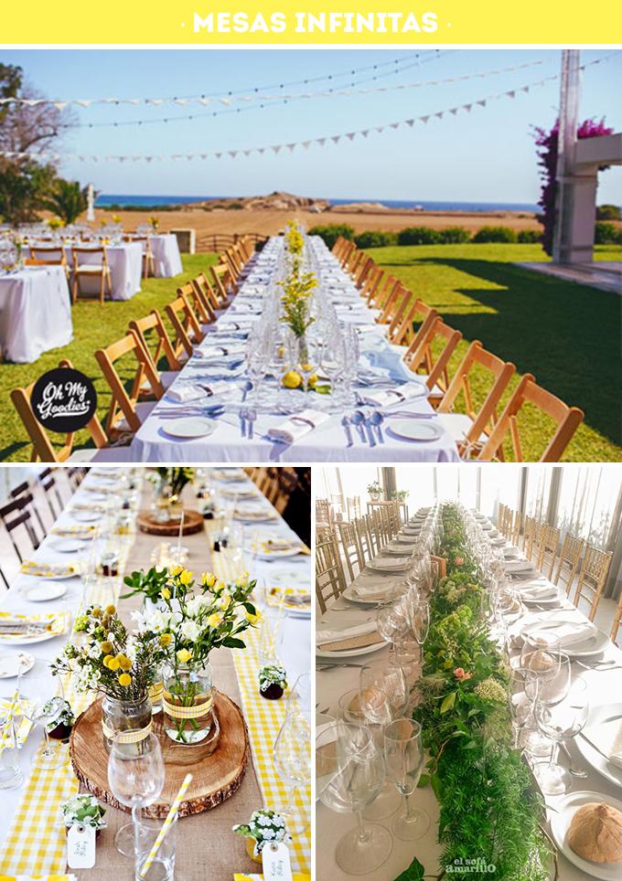 mesas infinitas bodas