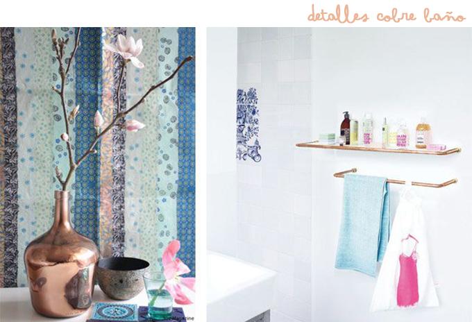 decoracion cobre baño