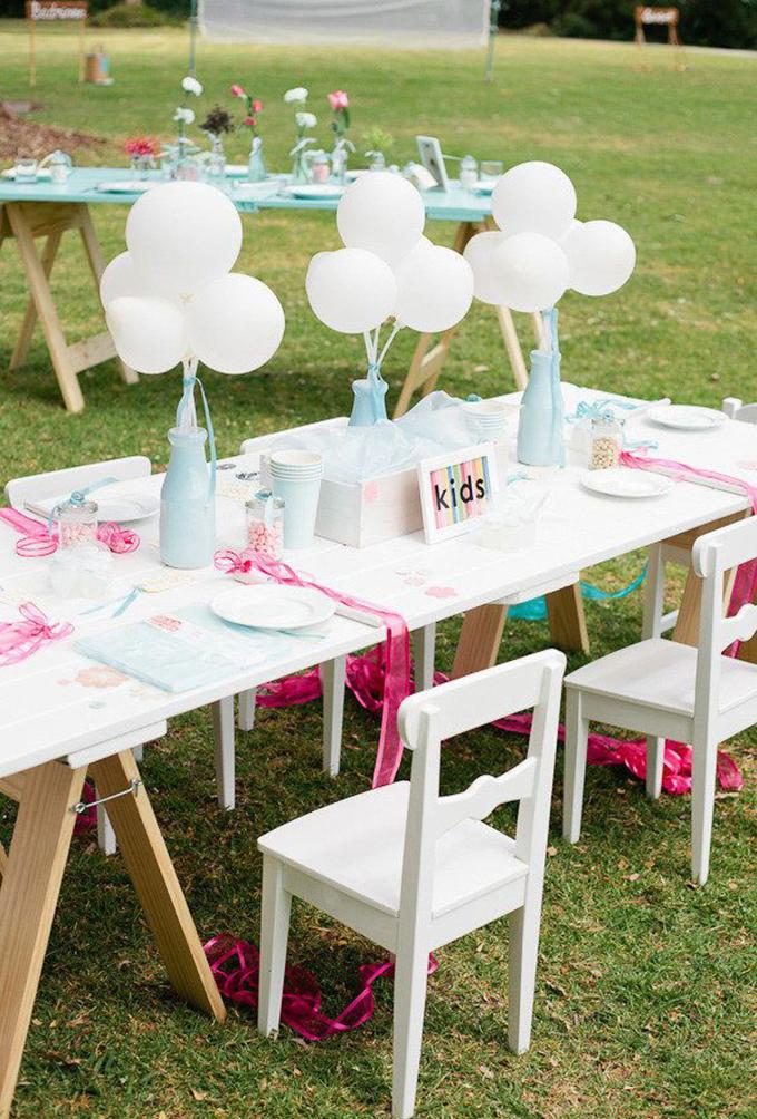 mesas niños bodas