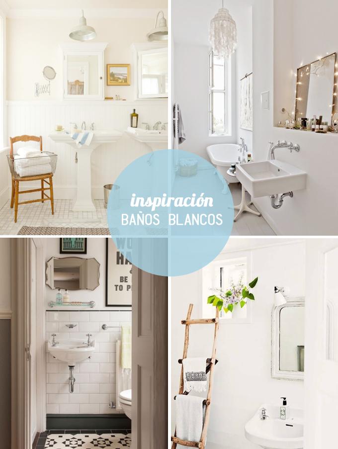 inspiracion baños blancos