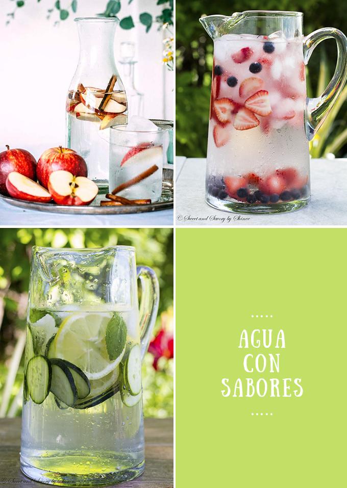 aguas con sabores