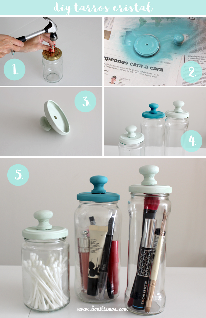 Diy tarros bonitismos for Decoracion del hogar en pinterest