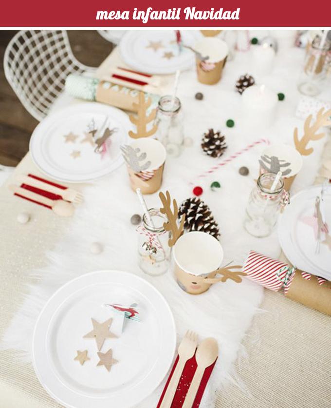 mesa infantil Navidad