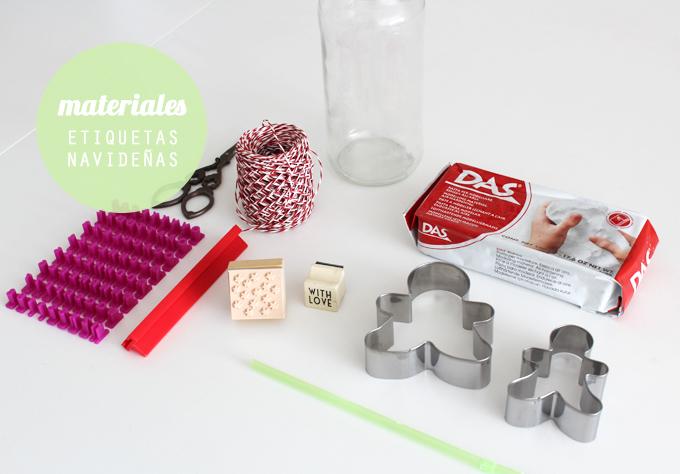 materiales etiquetas arcilla
