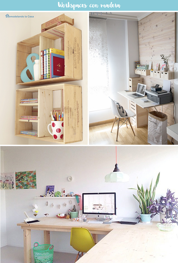 workspaces con madera