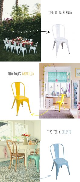 silla tolix colores