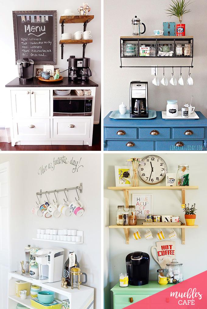 Ideas bonitas para montar un rinc n de caf o t en casa for Muebles para cafeteria