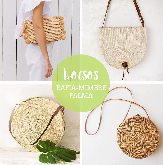 Bolsos artesanales de rafia palma o mimbre - Como adornar cestas de mimbre ...