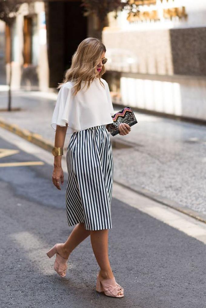 falda rayas verticales