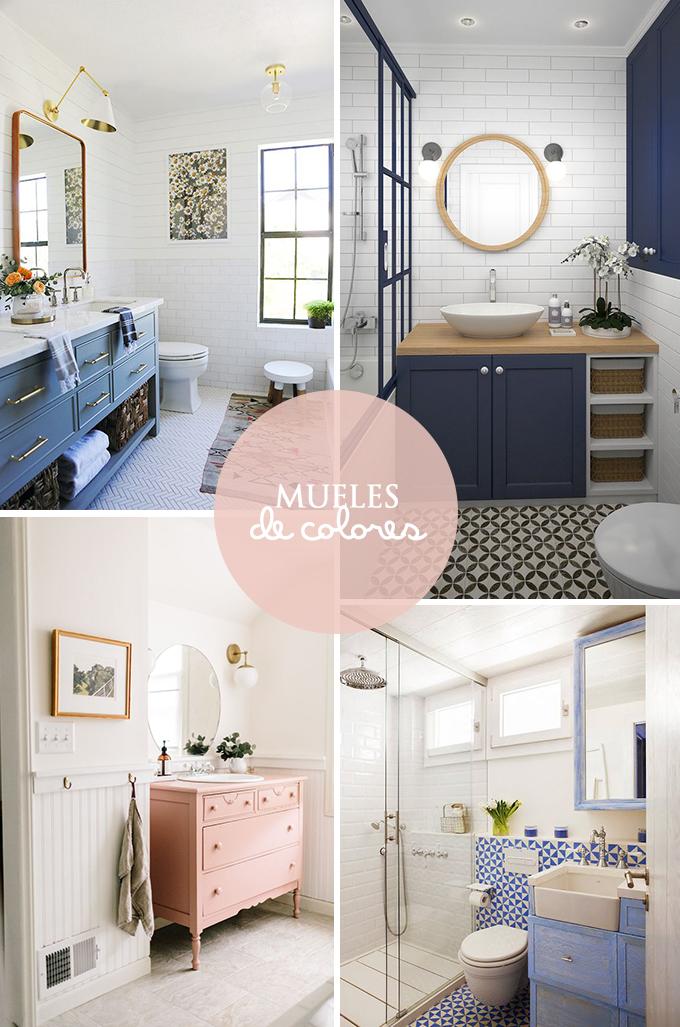 muebles-colores-cuartos-baño - Bonitismos