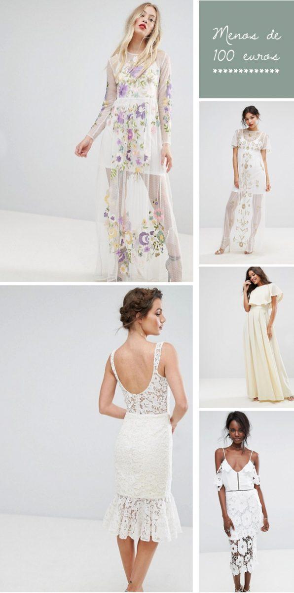 Vestidos de novia baratos y bonitos por menos de 100€ en