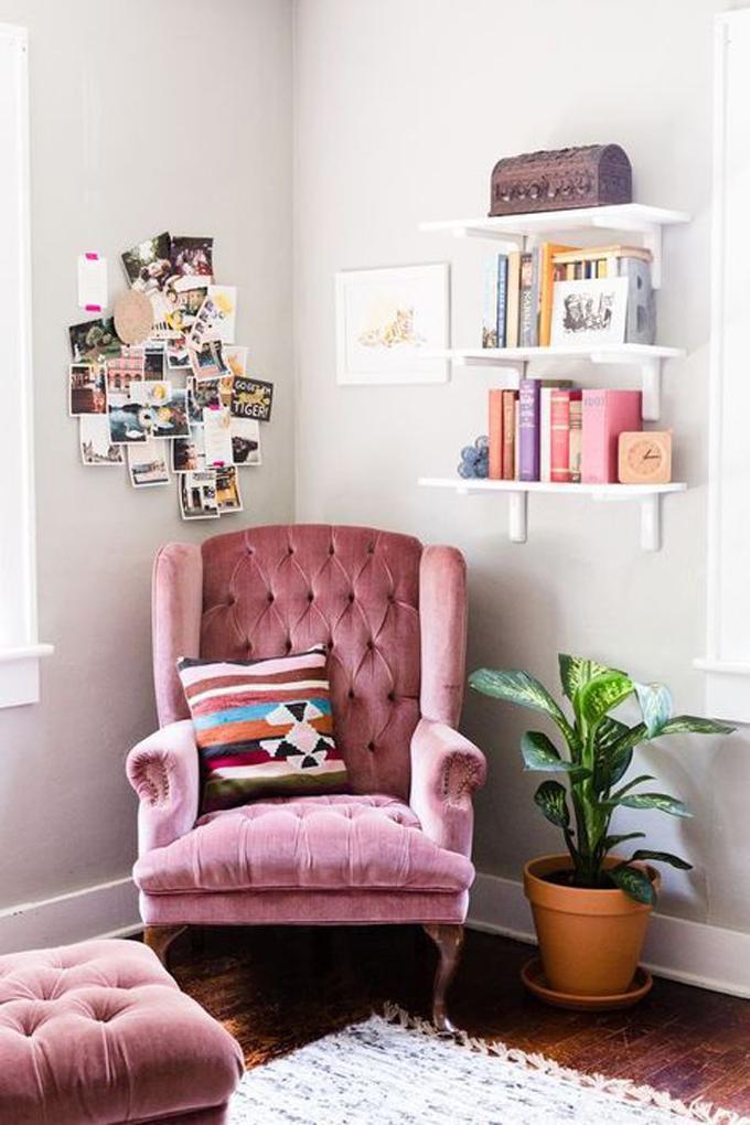 sillón rosa