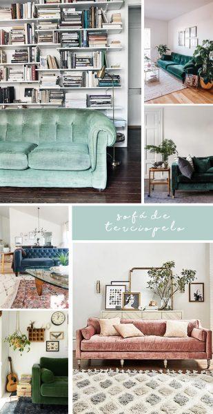 sofa de terciopelo bonitista
