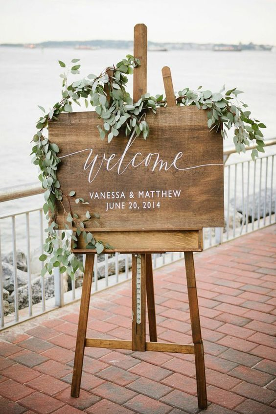cartel boda eucalipto