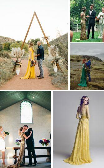 vestidos novia colores