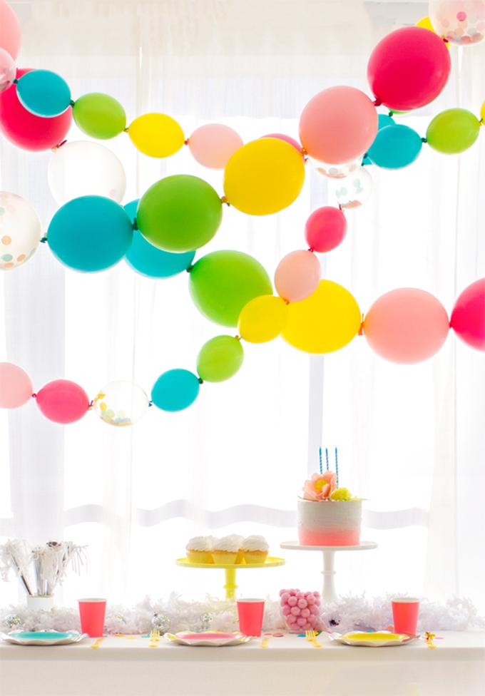 guirnalda diy con globos