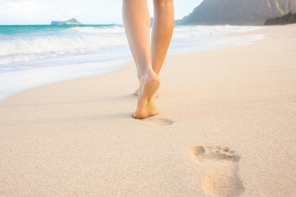 pasear por la playa