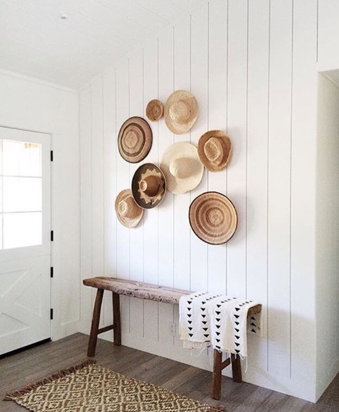 paredes con sombreros