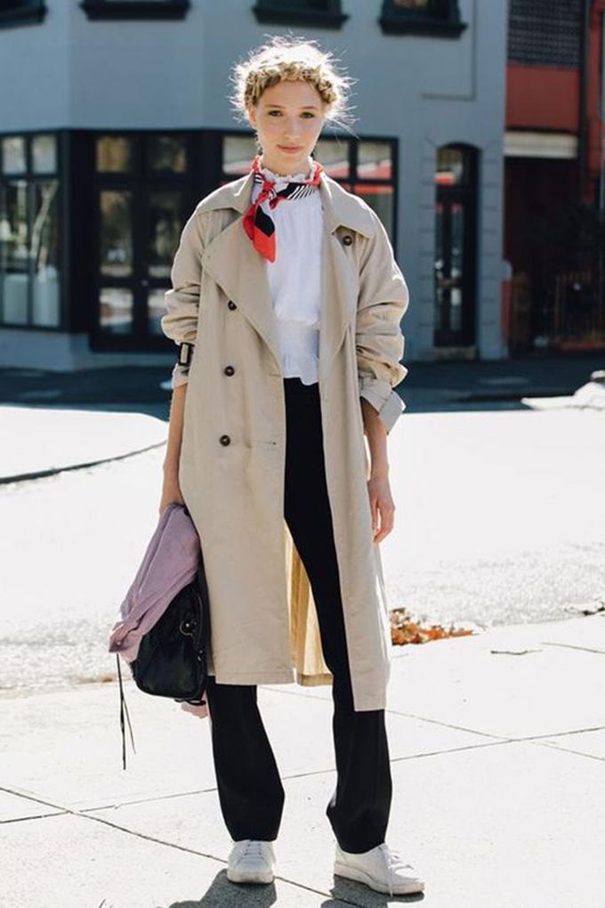 outfit gabardina