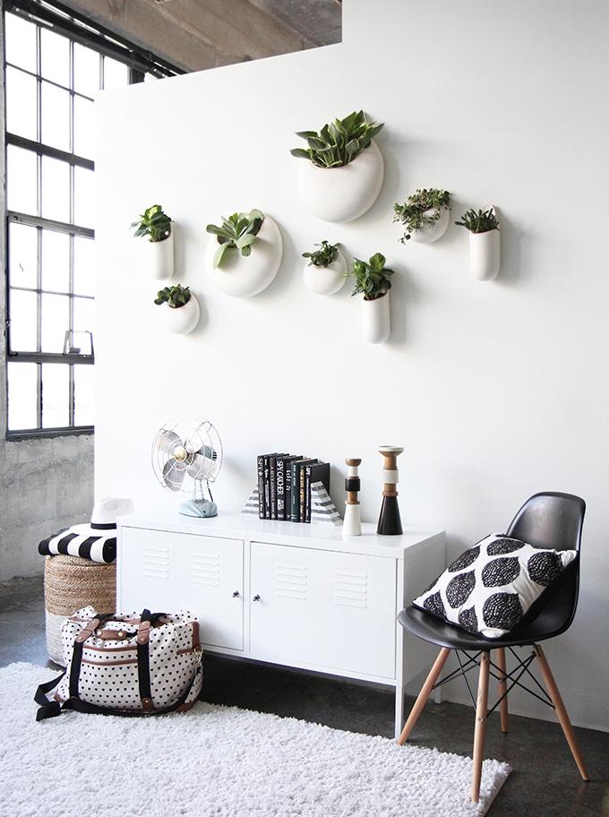 macetas en paredes