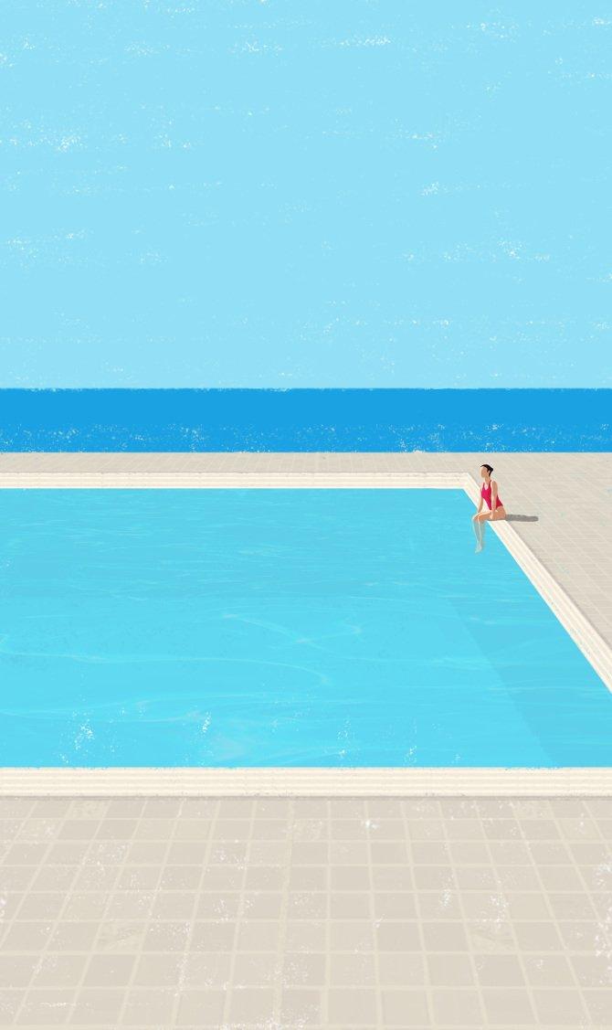 ilustración piscina