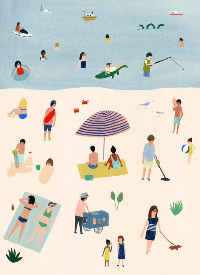 ilustración verano
