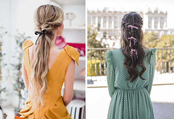 lazos pequeños peinados