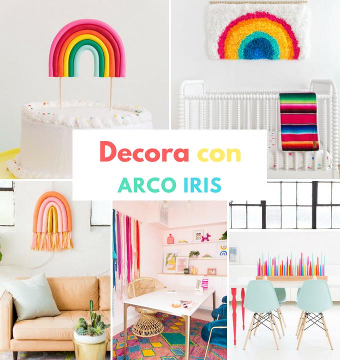 decoración arcoíris