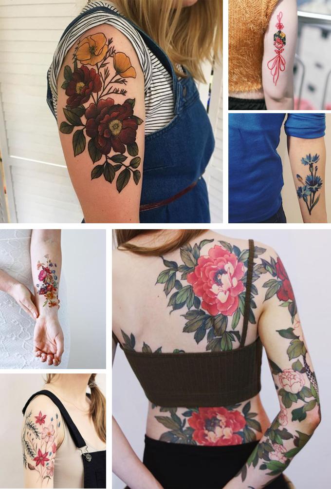 tatuajes florales