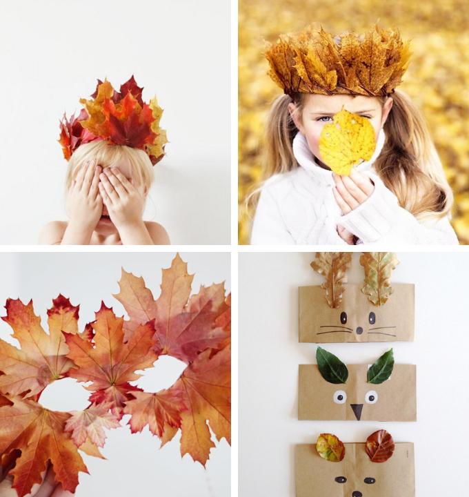 diy hojas niños