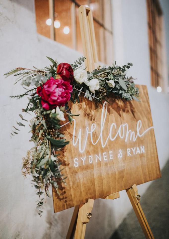 cartel bienvenida boda de invierno