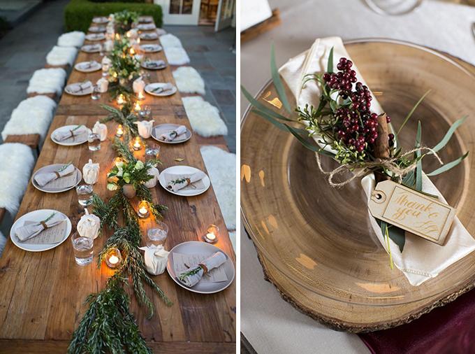 ideas mesa boda de invierno