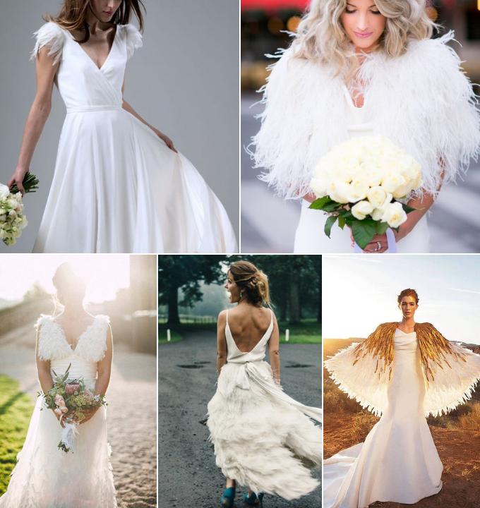 novias con plumas