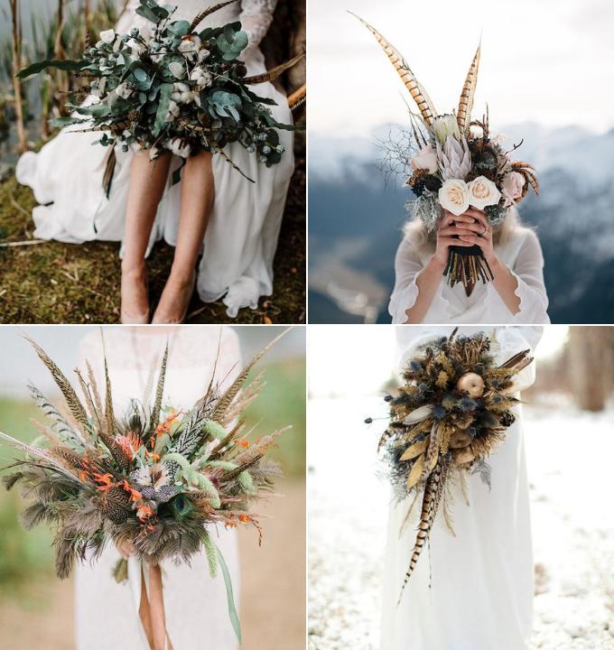 ramos novias plumas