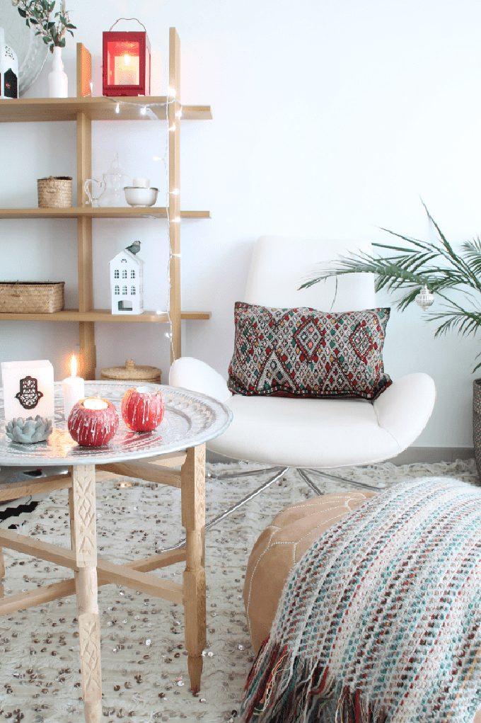 decoración puf marroquí